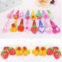 10Pcs Cute Cartoon Kids Hair Pins Baby Infant Flower Clips Girls Lovely Hairpins