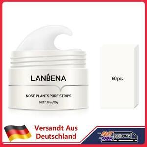 LANBENA 60pcs Blackhead Remover Nose Peeling Masks Pore Cleansing Skin Care