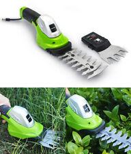 2 in 1 Cordless Hedge Trimmer&Grass Shear garden cutter shrub tool 7.2V Lithium