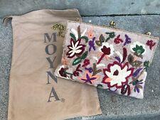 Moyna Embroidered Botanical Floral Beaded Clutch Purse Handbag Anthropologie?