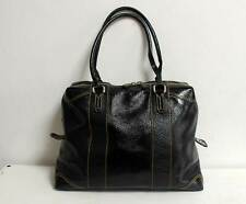 Fendi Patent Leather Boston Doctor Bag Black Tote Satchel