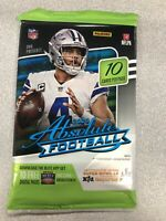 2020 NFL Panini Absolute Football NFL Retail Pack (10 Cards Per Pack) Kaboom?