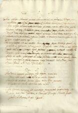Manoscritto Sentenza Pietro Castello Cacciata Gesuiti Omicidio Enrico IV 1595