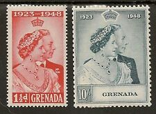 GRENADA 1948 ROYAL SILVER WEDDING SG166/67 MNH