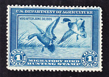 US RW1 $1 Duck Hunting Mint F-VF Part OG SCV $350