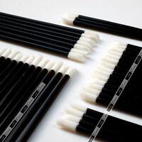 Disposable Lip Brush Wand Lipstick Applicator White Soft Fleece