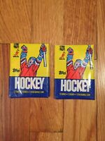 (1) 1985-86 TOPPS HOCKEY WAX PACK FROM WAX BOX Mario Lemieux RC ? ☄️