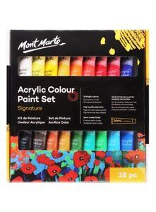Mont Marte Studio Acrylic Paint Set 18pce x 36ml Excellent Range of Colours