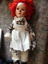 "Porcelain doll - girl clown 14"" high"