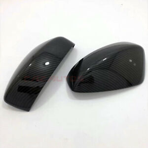 BLACK SIDE REVIEW MIRROR COVER PAIR FOR MAZDA CX-5 CX5 2017-2021