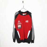 Vintage ADIDAS Norge Big Back Logo Hoodie Sweatshirt Red | Large L