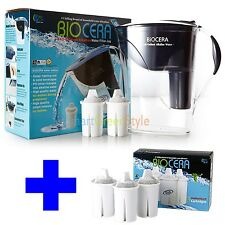Water Filter Pitcher Antioxidant Alkaline water filter jug with 5filters Biocera