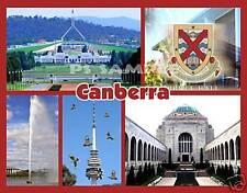Australia - CANBERRA Collage - Travel Souvenir Flexible Fridge Magnet