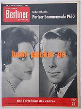 ILLUSTRIERTE BERLINER ZEITSCHRIFT 1960 Nr. 11: Pariser Sommermode 1960