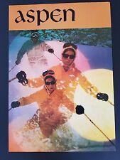 Vintage 1960s Aspen Colorado Ski Resort Poster Snow Male & Female 60's Skier