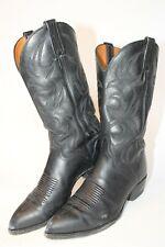 El Dorado Mens 9 D Classic Black Leather Western Cowboy Boots 9300