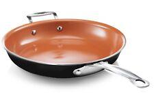 "Gotham Steel 12.5"" Nonstick XL Copper Premium Fry Pan - 5 Vivid Colors - NEW"
