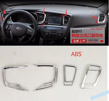 interior For Kia Optima K5 2011-2014 ABS Central Control Air Vent Outlet Trim