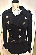 BetseyVille MINT VINTAGE Coat/Jacket Black MILITARY STYLE Corduroy-RARE - SIZE 8