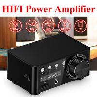 HiFi Bluetooth 5.0 Power Amplifier Car Stereo Home Audio Amp USB Music Player
