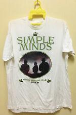 VINTAGE 80s SIMPLE MINDS ROCK NEW WAVE TOUR CONCERT T-SHIRT 50/50 DEPECHE MODE