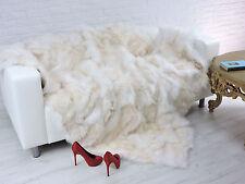 LUXURY REAL  FOX  THROW BLANKET CREAMY COLOUR  210cm X 175cm, i881