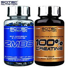 ZMB6 60 Caps + Creatine Monohydrate 100g ZMA Zinc Magnesium Vitamin B6 Anabolic