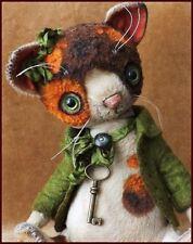 "READY to SHIP Alla Bears 7.5"" artist art cat kitten home decor Holiday Christmas"