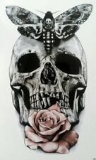 Large Skull Rose Temporary Black Tattoo Hipster Large Temporary Tattoo Body Art