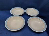 "Vintage International Tableworks Stoneware ""Bandana"" Set/4 Soup/Cereal Bowls"
