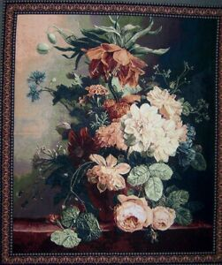 Tapestry Wall Hanging Flower Canvas Style Famous Artwork
