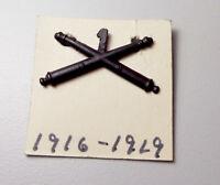 WW1 OFFICERS 1ST FIELD ARTILLERY TUNIC COLLAR INSIGNIA