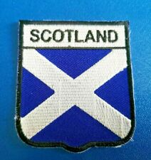 FLAG OF SCOTLAND PATCH:- SEW /IRON ON:- NATIONAL COUNTRY SHIELD
