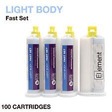 Element LIGHT BODY VPS PVS Impression Material FAST Set 100 X 50ML Dental