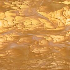 8x10 Spectrum Pale Honey & White Wispy Translucent Stained Glass Sheet S31902