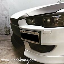 2008 TO 2015 MITSUBISHI LANCER GTS SE FRONT BUMPER ADD ON LIP PAINTED MATT BLACK