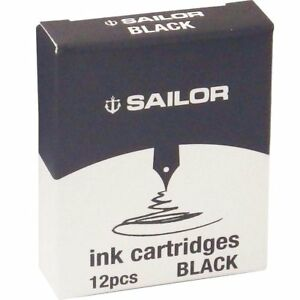 Sailor Cartridges - Black (set of 12) 13-0402-120