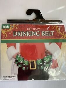 Holiday Christmas Party Drinking Belt Holster Adult One Size Funny Office Party