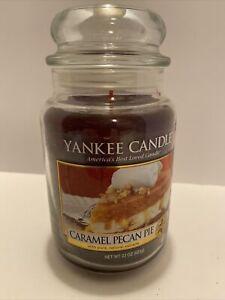 Retired Yankee Caramel Pecan Pie 22 oz Food Spice Scented Sweet Cinnamon