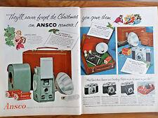 1955 Ansco Film Cameras Ad Christmas 1955 Sylvania Nightlighter Radio Clocks Ad