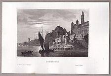 Marienburg, Malbork, Polen, Pommern - Ordensschloß, Original Stahlstich 1850