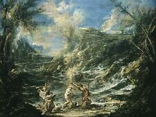 ALESSANDRO MAGNASCO ITALIAN BAPTISM CHRIST OLD ART PAINTING POSTER BB4785A