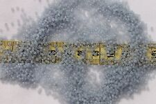 Vintage French 13/0  Glass Seed Beads Opal Light Sapphire  /1/2oz