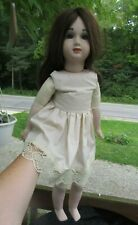 """Reproduction of Antique A Thuillier A14T French 25"""" Doll"""