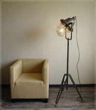 Moderne Stehleuchte im Vintage Industrie Design Stativ Metall Grau NEU