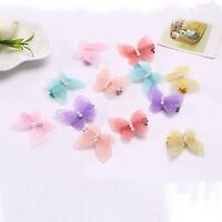 2Pcs Baby Kids Chiffon Butterfly Princess Hair Pin Headwear Hair Clips LJ