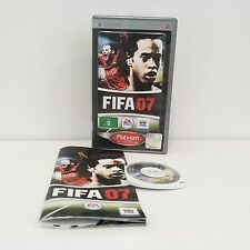 FIFA 07 Sony Playstation PSP Game Platinum Edition VGC CIB Complete | FREE POST