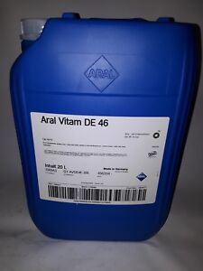 20 ltr. ARAL Vitam DE 46 Hydrauliköl HLPD ISO-VG 46 zinkfrei