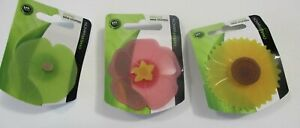 Charles Viancin Bulb Wine Stoppers Hibiscus, Sunflower, & Lily Pad Set of 3 NEW