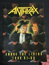 """""""Anthrax"""" Tourbook Among The Living Tour 1987-88 Booklet"""